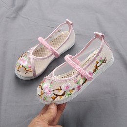 6000202 CNY Kids Girl Embroidery Shoes