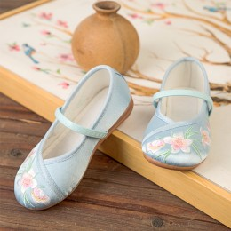 6000214 CNY Kids Girl Embroidery Shoes