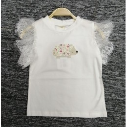 3001350 Baby Toddler Girl Cute White Top