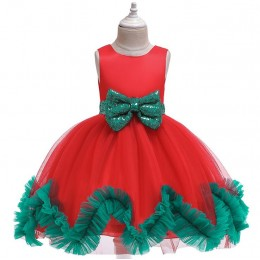 [Pre-order] 8000813 Christmas Kids Girl Party Dress Birthday Dress Flower Girl Dress Princess Dress Long Dress