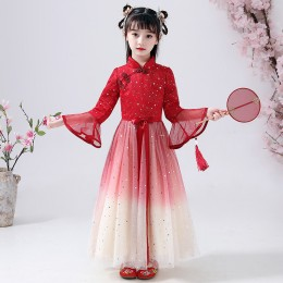 [Pre-Order] 049 Premium CNY Kids Girl Ombre Dress