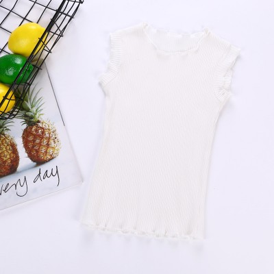 1001860 Kids Girl Premium Cotton Top (White)