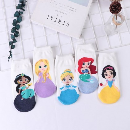 [Pre-order] BG001 Pre-teen Girl Teenager Adult Princess Socks (1 set 5 pairs)
