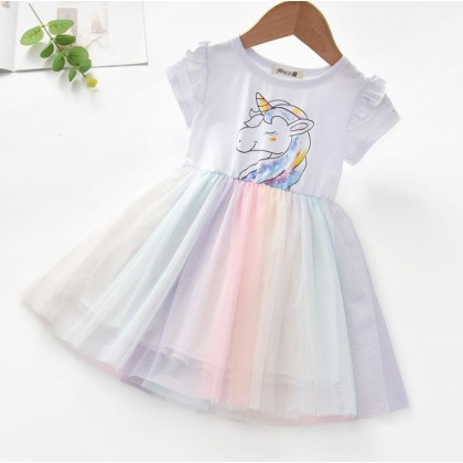 1004250 Kids Girl Uicorn Dress