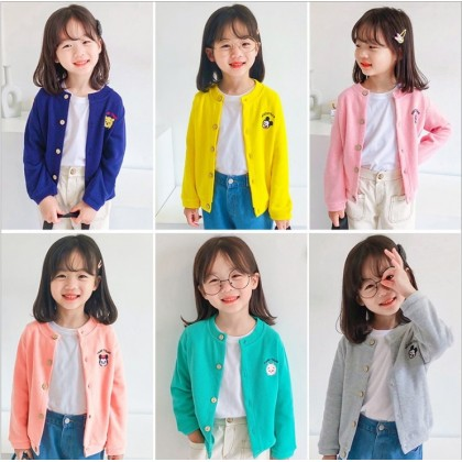 [Pre-order] FC034 Kids Cartoon Knitted Cardigan
