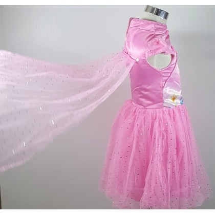 促销秒杀-不退不换-Frozen Flying Bling Bling Kids Girl Party Dress