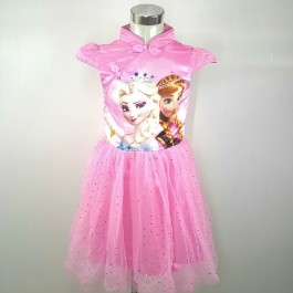 Frozen Flying Bling Bling Kids Girl Party Dress