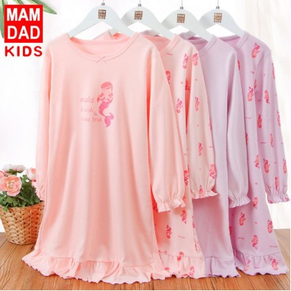 [Pre-order] FC040 Kids Girls Mermaid Pyjamas Dress