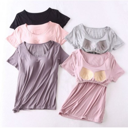 [Pre-order] M018 Ladies Casual Top with Padded Bra