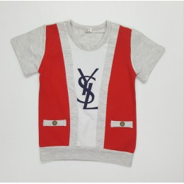 YSL Kids Boy Roundneck T Shirt