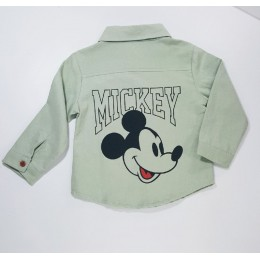 Mickey Long Sleeved Collar Kids Shirt