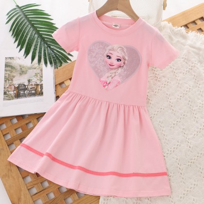 [Pre-order] FC076 Kids Girl Cartoon Princess Dress
