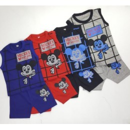 Mickey Kids Boy Sleeveless Set