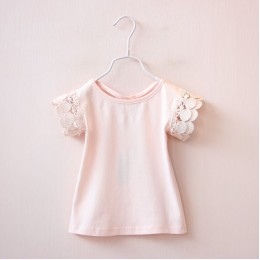 Kids Girl Lace Cotton T