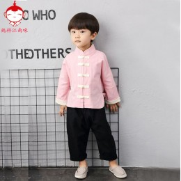 [CNY2019 Pre-Order] Girls & Boys Chinese Hanfu Set - Design 2