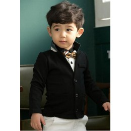 Boy's Small Suit Jacket (Black)