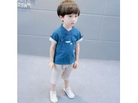 [CNY2019 Pre-Order] Boys Shortsleeve Chinese Crane 2 Pc Set