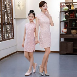 [CNY2019 Pre-Order] Kids Girl& & Mummy Spring Flower Cheong Sam Dress