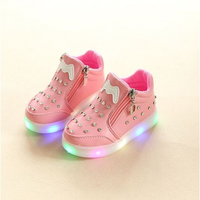 Kids Girl Studded LED Sport Shoes