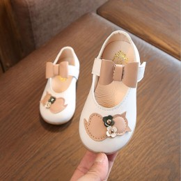 Kids Girl Cat White Shoes