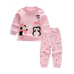 Kids Pyjamas - Pink Penguin