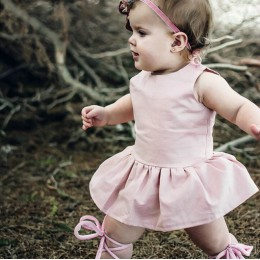 Baby Girl Dust Pink Romper Dress