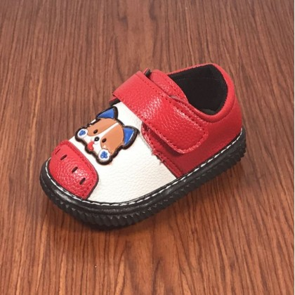 Baby Boy Shoes - Doggie (Red)