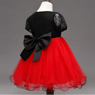 Hellebores Kids Girl Princess Dress Party Dress Wedding Dress Birthday Dress Black Red Lace Dress