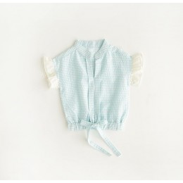 Kids Girl Ribbon Stripe Top