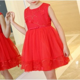 Kids Girl New Year Dress Red Dress Party Dress