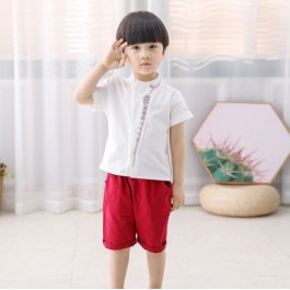 Kids Boy Embroidery Premium Cotton Set