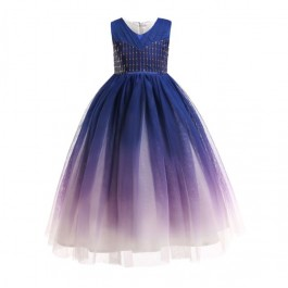 Blaue Blume Kids Girl Ombre Dress Princess Dress Party Dress Wedding Dress Birthday Dress