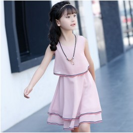 [Pre-Order] Kids Girls Lady Chiffon Dress