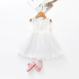 Kids Girl Sleeveless Cotton Chiffon Dress