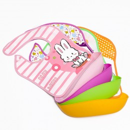 Cartoon Toddler Water Proof Baby Bibs Detachable Pocket