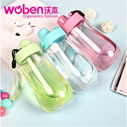 Woben Kids Straw Water Bottle Learning Cup (400ml)