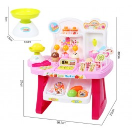 Kids Super Market Mini Market Playset Role Play Toys