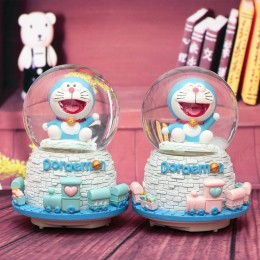 Doraemon Crystal Ball Snowflake Music Box Gift