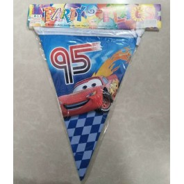 Cartoon Birthday Party Triangle Flag