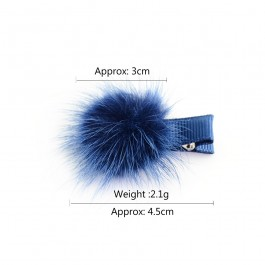 Baby Kids Girl Mane Fur Hair Clips Hair Pin