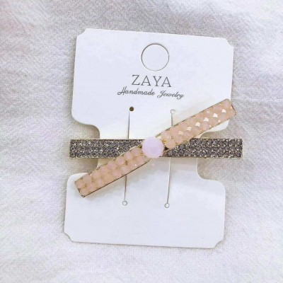 0096 Korean Bling Bling Cross Elegant Hairclip