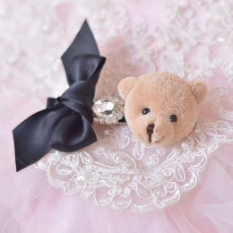 0093 Korean 3D Bear Elegant Hairclip
