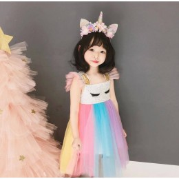 Kids Girl Smile Rainbow Dress