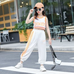 [Pre-order] Kids Girl Hip Hop 2pc Set (White)