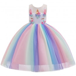 [Pre-order] Unicorn Rainbow Kids Girl Party Dress Birthday Dress Flower Girl Dress