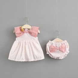 Baby Toddler Love Dress + Pant + Hairclip (3pc Set)