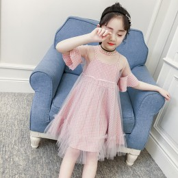 Kids Girl Plaid Dress Set