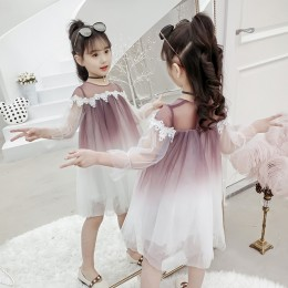 Kids Girl Ombre Mesh Dress