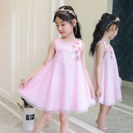 Kids Girl Flower Pink Dress