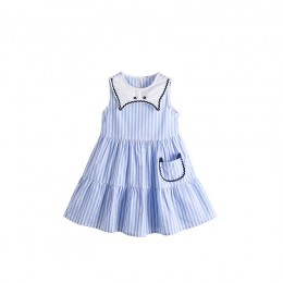 [Pre-order] Kids Girl Blue Stripe Dress